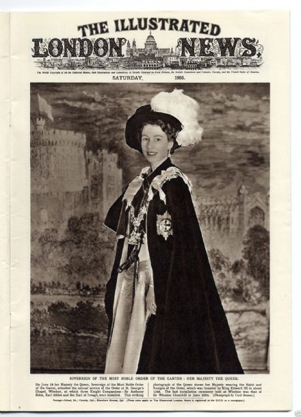 1956 ILLUSTRATED LONDON NEWS QUEEN VICTORIA SCARF Walter Lord TITANIC Victoria Cross OLYMPICS (7016)